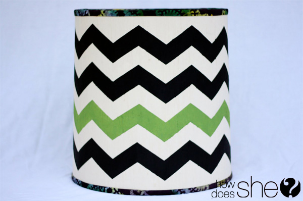Fabulous DIY Chevron Lamp Tutorial