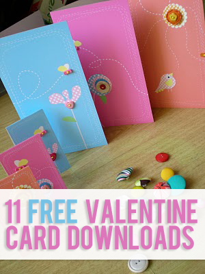 11 Free Valentine Card Downloads