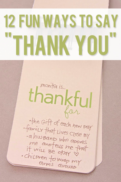 12 fun ways to say thank you