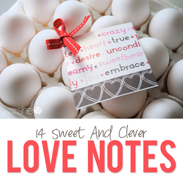 14 sweet and clever love notes
