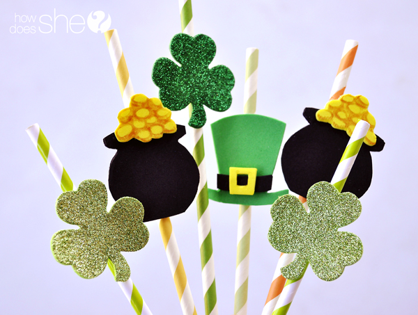 St Pattys Straws and Healthy Snack Ideas