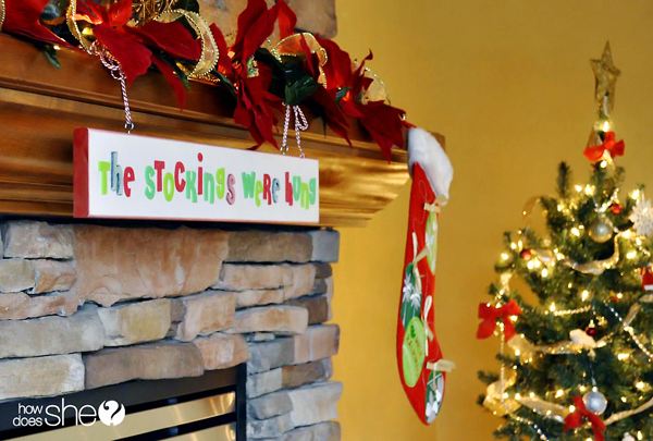 How to Hang Christmas Stockings