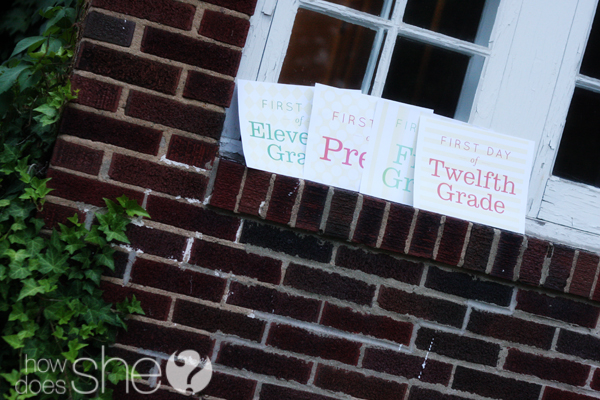 Free exclusive first day of school printables