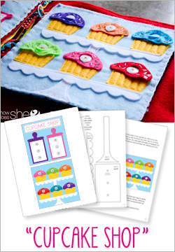 """Cupcake Shop"" Felt Book Pattern"