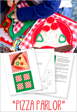 """Pizza Parlor"" Felt Quiet Book Pattern"