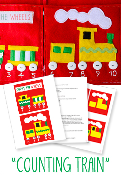 """Counting Train"" Felt Quiet Book Pattern"