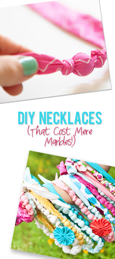 DIY Fabric Necklaces