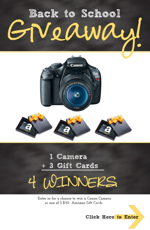 Back to school Canon Camera giveaway!