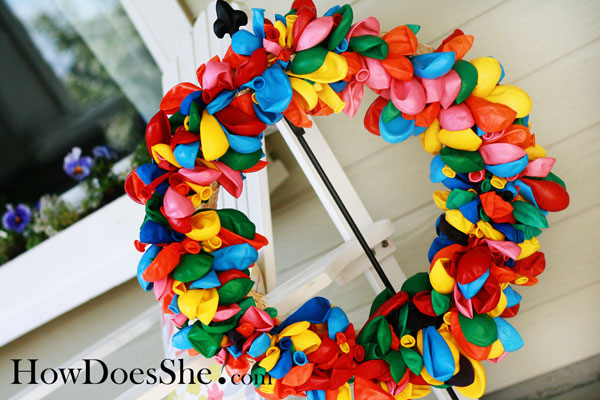 Festive Balloon Wreath