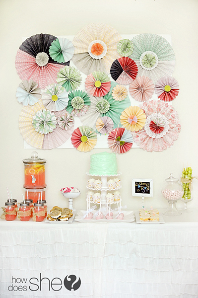 Paper Rosette Backdrop