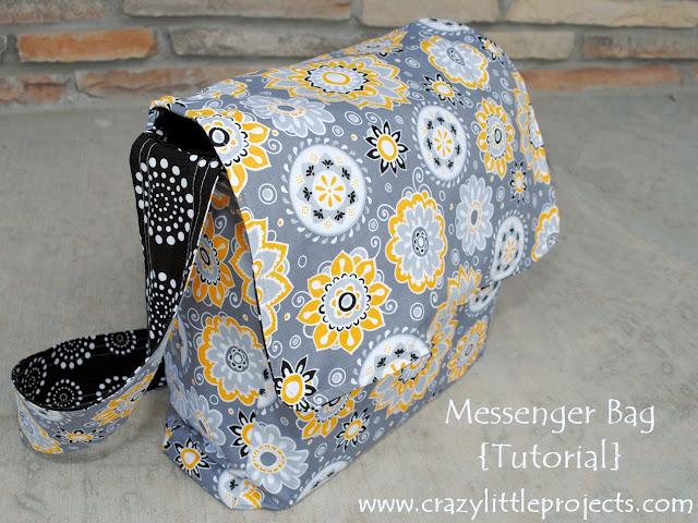 Tote Bag Pattern: Easy Messenger Bag Pattern Sewing