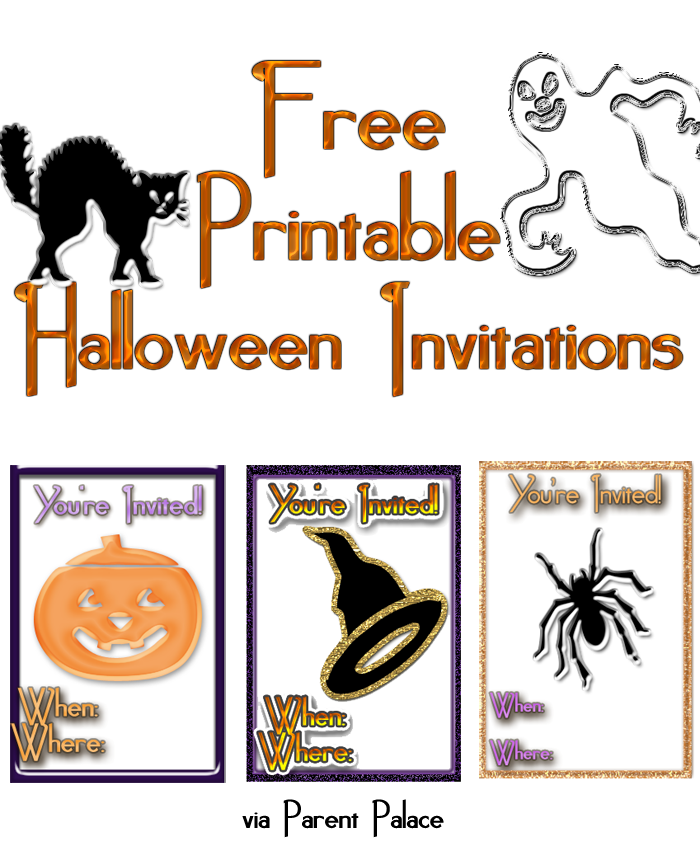 halloween free printable invitations
