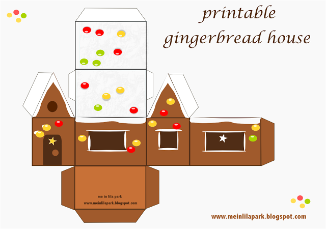 Old Fashioned image with gingerbread house printable