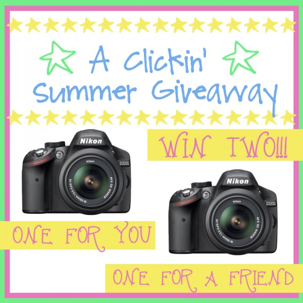 Enter to win a Nikon camera for yourself AND a friend!!