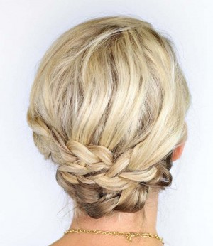 braided updo for short hair 1