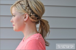 half french braid ponytail