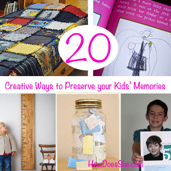 Preserve kids' memories