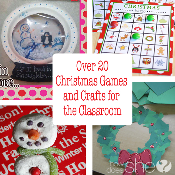 Over 20 Christmas Games and Crafts for the Clasroom