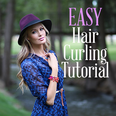 hair curling tutorial featured image