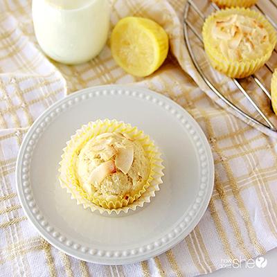 Lemon Coconut Muffins - www.howdoesshe.com