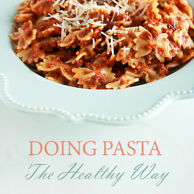 doing pasta the healthy way featured