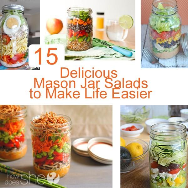15 Delicious Mason Jar Salads to Make Your Life Easier