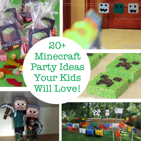 20+ Minecraft Party Ideas Your Kids Will Love