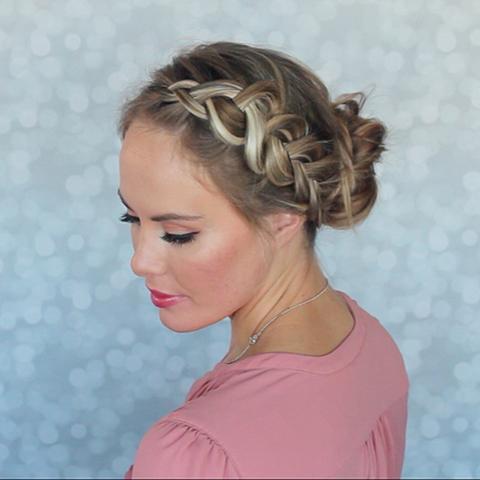 Beautiful braided bun tutorial (1)