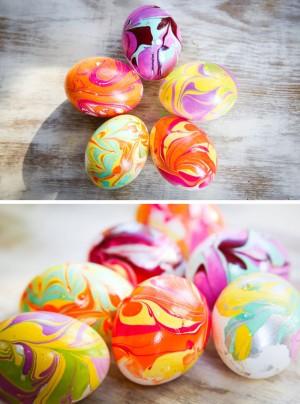 nail polish egg decorating