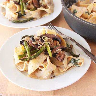 roasted asparagus mushroom pappardelle (8)