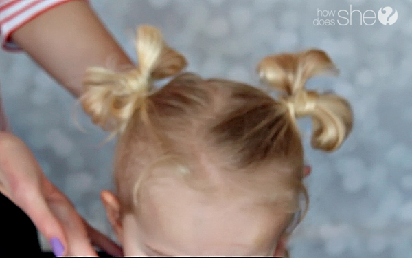 Hair Bow Bun Tutorial #hairbow - www.howdoesshe.com