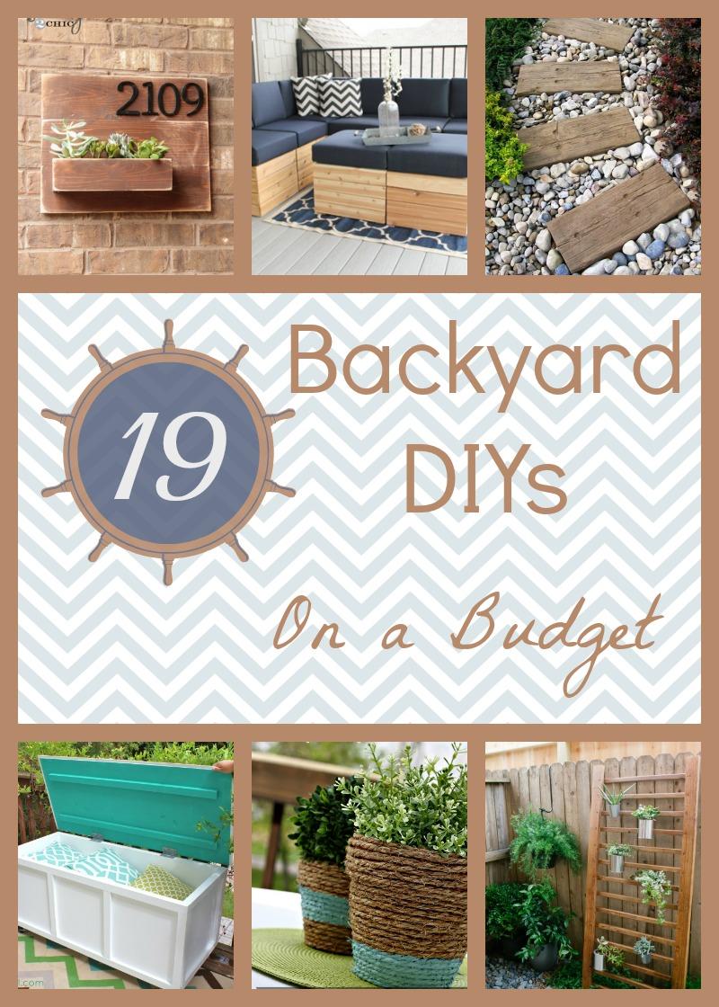 19 Backyard DIY Spruce-Ups on a Budget | How Does She on Back Patio Ideas On A Budget id=72035