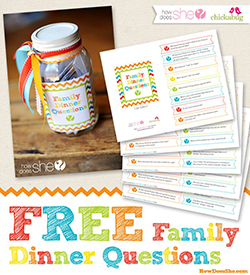 Free printable family dinner questions
