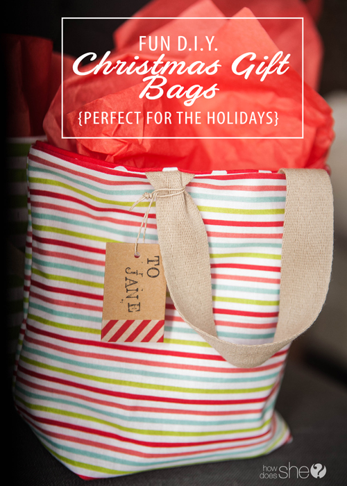 Fun d i y christmas gift bags perfect for the holidays