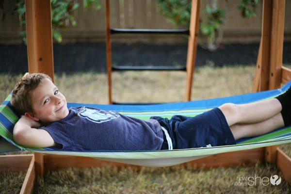 backyard discovery hammock oceanview swingset