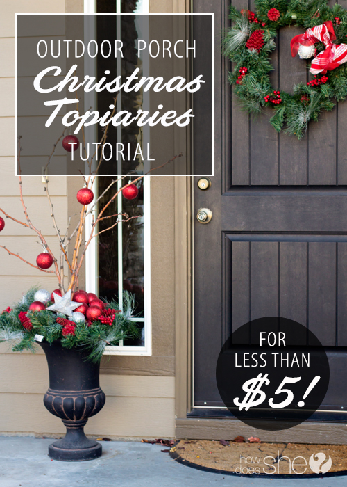 Outdoor Christmas Topiary