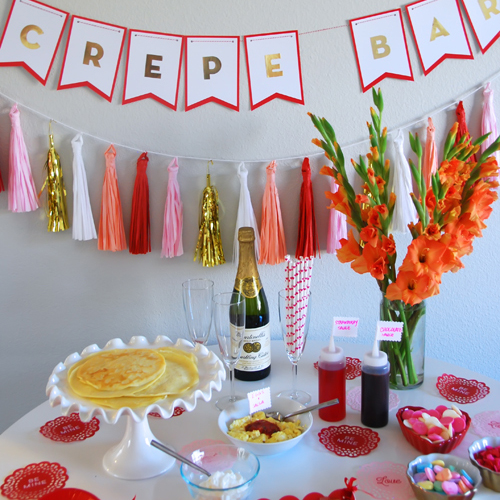 Quick and Easy Valentine Crepe Bar (featured)