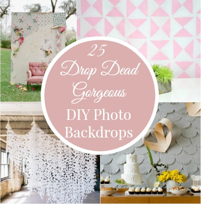 DIY photo backdrops featured