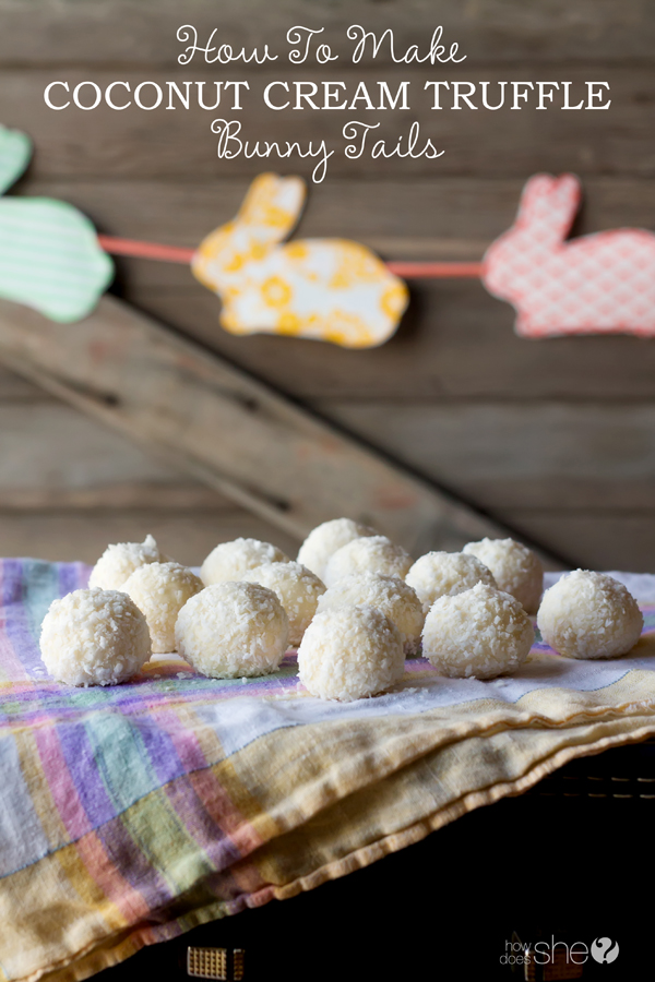How To Make Coconut Cream Truffle Bunny Tails