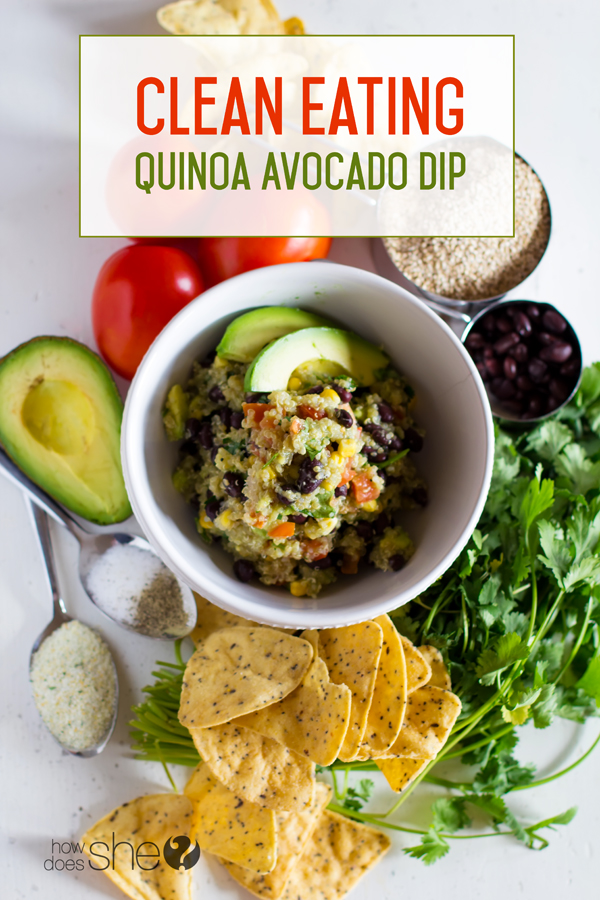 Clean Eating Quinoa Avocado Dip