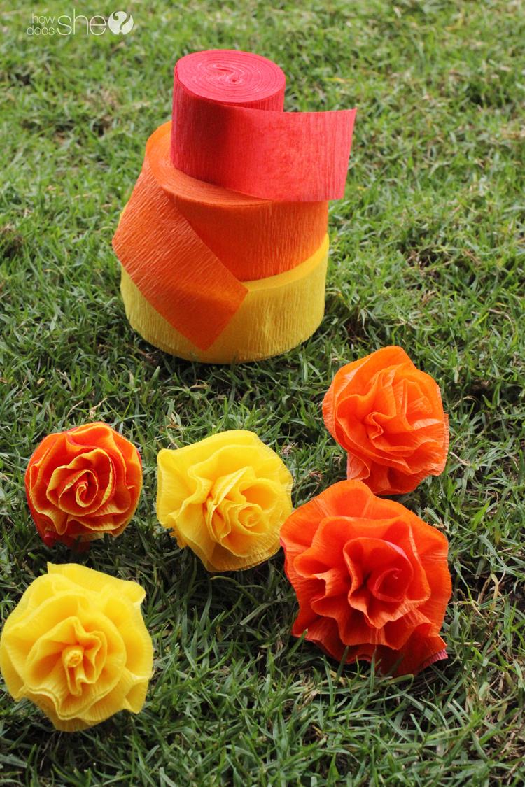 DIY Pretty & easy faux flower lei (2)