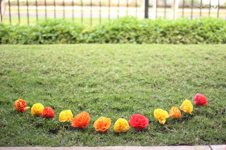 DIY Pretty & Easy Faux Flower Lei