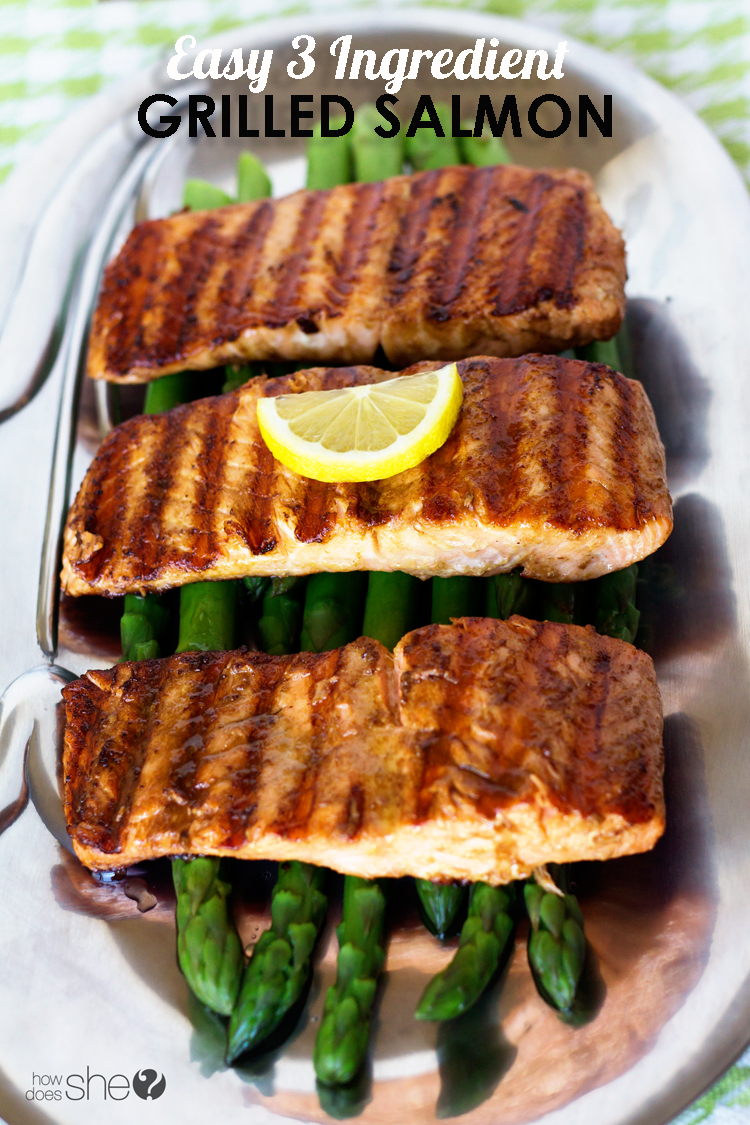 Easy 3 ingredient grilled salmon