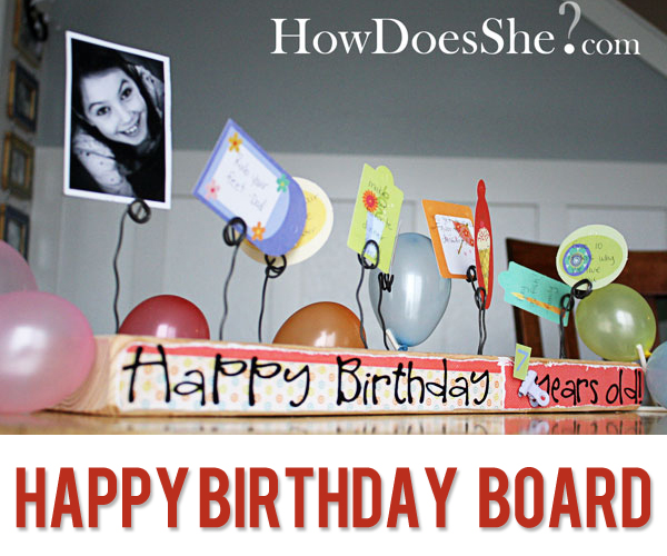 2X4 Happy Birthday Board