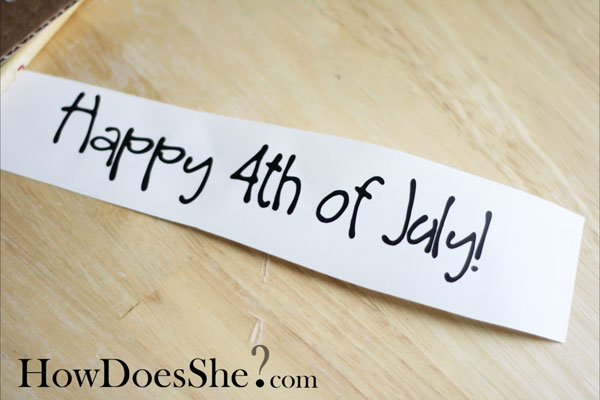 2X4 decor for 4th of July