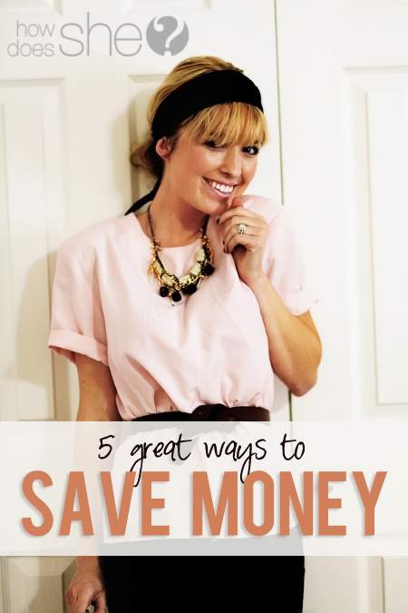 5 ways to save money