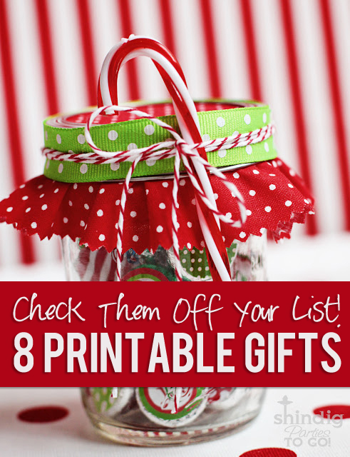 8 free printable gift ideas