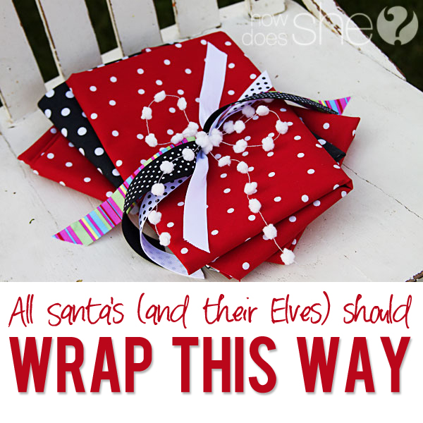 All Santa's Should Wrap THIS Way!