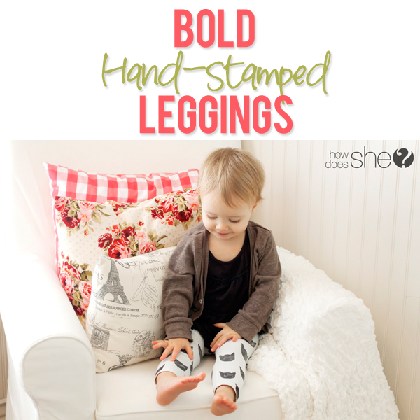 Hand-Stamped Leggings