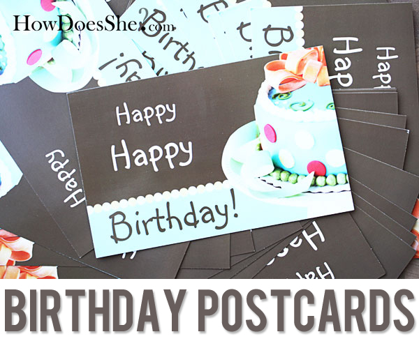 Brithday Postcards